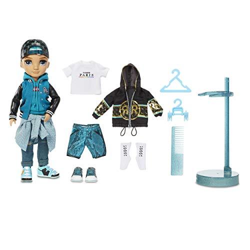 Rainbow High 572145EUC Fashion Doll - River Kendall - Blaugrüne, Männliche Puppe, Luxus Outfits, Accessoires & Puppenständer - Rainbow High Serie 2 - Perfektes Geschenk für Mädchen ab 6 Jahren