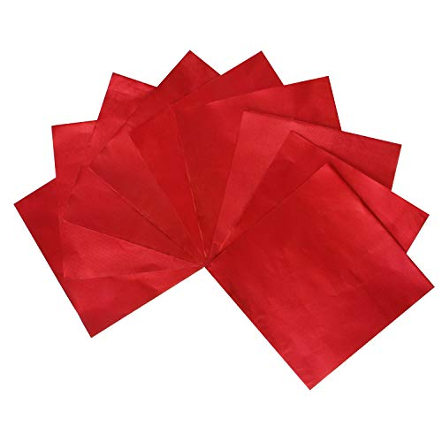 Webake Chocolate Candy Wrappers Aluminium Foil 100 piece For Homemade Chocolate, DIY Candies, Fudge and Brownies 6 x 6 Inch (Red)