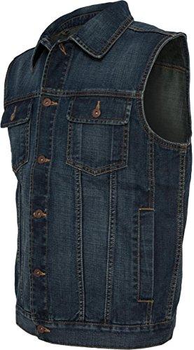 Urban Classics Denim Vest, Farbe:denimblue;Größe:L