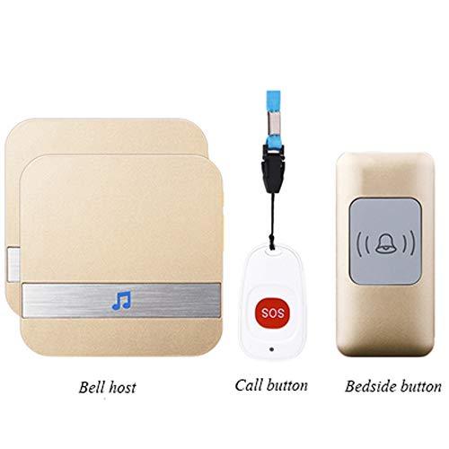 Elderly Alarm System, Safety Alarm Medical Alert System Kit Portable Wireless Doorbell Elderly Monitor Best Gift for Elderly Kids Handicapped Pregnant Women,B