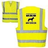 veedub clothing Husky Dog Chaleco de Alta Visibilidad para papá (Todas Las Razas Disponibles) h S-M
