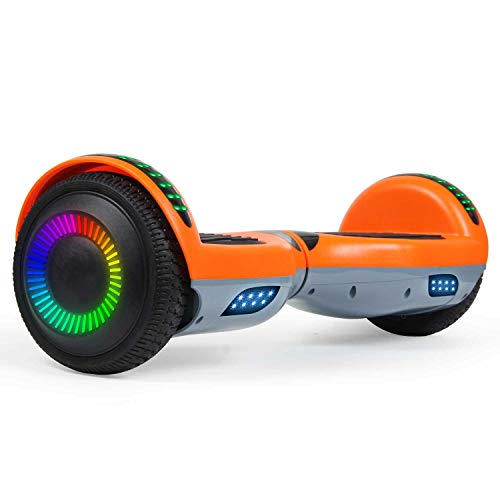 "SISIGAD Hoverboard 6.5"" Two-Wheel Self Balancing Hoverboard with Bluetooth Speaker for Adult Kids Gift"