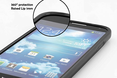 Cadorabo Hülle für Honor 3C - Hülle in SCHWARZ – Handyhülle aus TPU Silikon in gebürsteter Edelstahloptik (Brushed) Silikonhülle Schutzhülle Soft Back Cover Case Bumper - 5