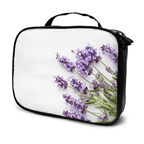 Purple Bunch Lavender Flowers Blossom Travel Makeup Case Makeup Pencil Case 1 Cosmetic Bag Multifunction Printed Pouch for Women