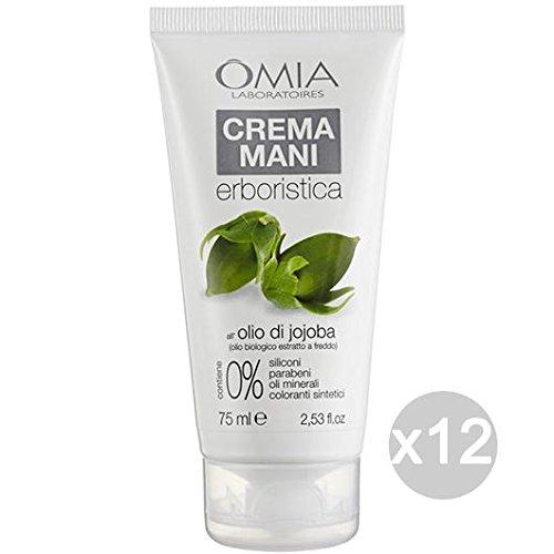omia ecobio Crème Mains Huile Jojoba – Pack de 12 x 75 g