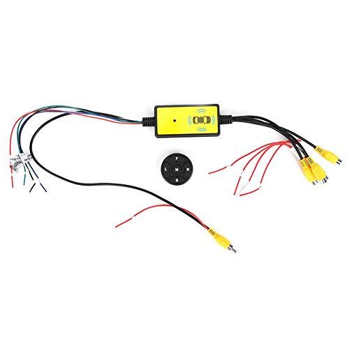 Conmutador de vídeo para coche, convertidor inteligente, 4 entradas, 1 salida, interruptor, sistema de vídeo, piezas de automóvil