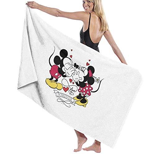 U/K Toalla de baño de Mickey y Minnie Forever de secado rápido