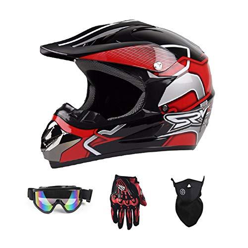 TianRong Motorradhelm, Mode Jugend ATV Motocross Dirt Bike BMX MX Downhill Off-Road...