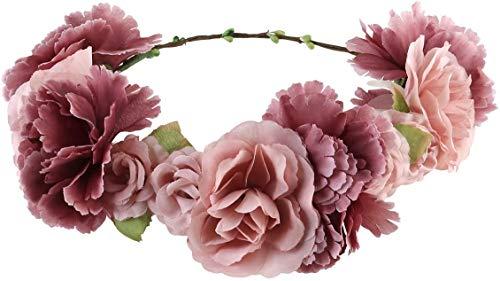 Corona di fiore corona corona capelli Boho fiore corona capelli corona sposa damigella d'onore fascia per capelli per donne ragazze accessori capelli festival festa di nozze