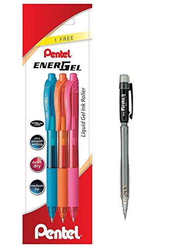 Pack Lote de 3 Rotuladores Bolígrafos Pentel Energel 0,7 mm Rollers tinta de...