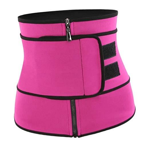 Abbraccia Modelador de cintura feminino pós-parto elástico para treino, cinta para cinto, Vermelho, G