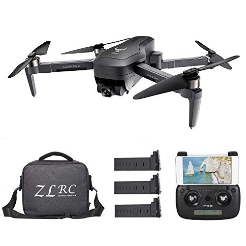 Goolsky SG906 PRO GPS RC Drone con Fotocamera 5G WiFi 4K a 2 Assi Gimbal 25mins Tempo di Volo Brushless Quadcopter Seguimi MV Foto Gesto con Borsa Portatile 3 Batteria