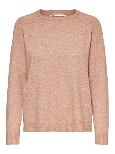 Only ONLLESLY Kings L/S Pullover KNT Noos Suéter, Misty Rose, XS para Mujer