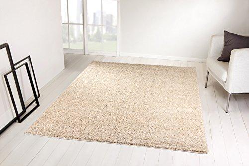 Taracarpet Shaggy Hochflor Langflor Teppich Trend beige 200x250 cm