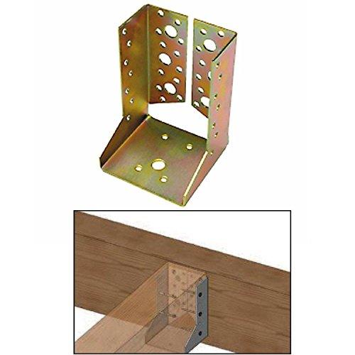Staffa Scarpa Ancoraggio Travi in Legno, Supporto per Travi 100 x 140 aletta interna - 10 pezzi