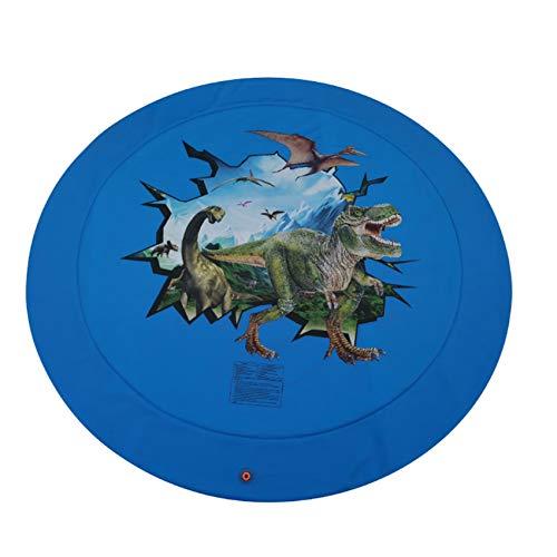chisatowww Splash Pad,Niños al Aire Libre Impresión 3D Juguetes inflables Estera de rociado de Agua Jardín de Verano Familia reunirse cumpleaños Juguete Regalos para niños 170 cm de diámetro