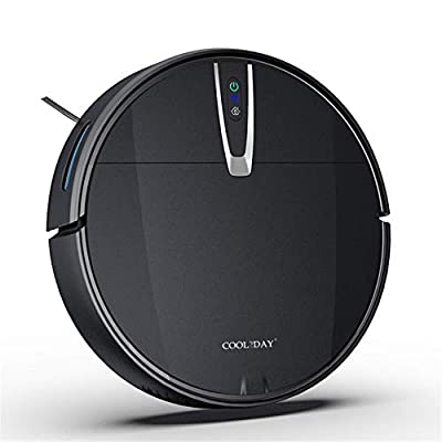 COOL2DAY Automatic Smart Robot Vacuum Cleaner,2000Pa Strong Suction,APP Control,Smart Navigation and Self-Charging Robotic Vacuum Cleaner,Cleans Hard Floors to Medium-Pile Carpets