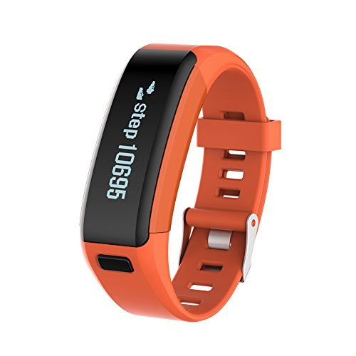 Price comparison product image Diamondo NO.1 Smartband F1 Waterproof Silicone Material Wristbands Sports Intelligen (Orange)