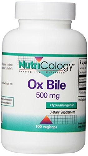 Nutricology Ox Bile (Ochsengalle), 500mg, 100vegetarische Kapseln