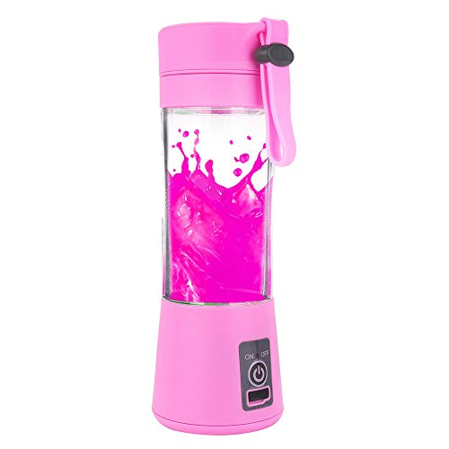 Kariwell Juice Cup, Personal Glass Smoothie Blender 380ml USB Electric...