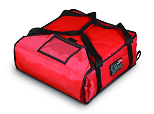 Rubbermaid Commercial Products - FG9F3500RED -FG9F3500 Insulated Pizza & Food Delivery Bag, Small Pizza, 18in x 18in x 5.25in, Red