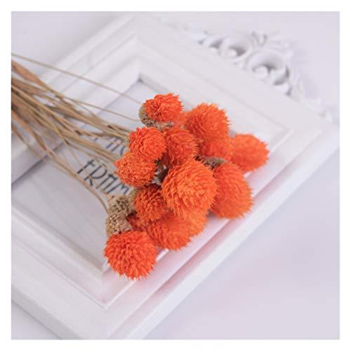 lliang Künstliche Blumen 15Pcs Getrocknete Blume Bouquets Künstliche Blume Bunte Erdbeeren Gras Blume Handgemachte Wohnkultur DIY Handwerk Blume (Farbe : Orange)