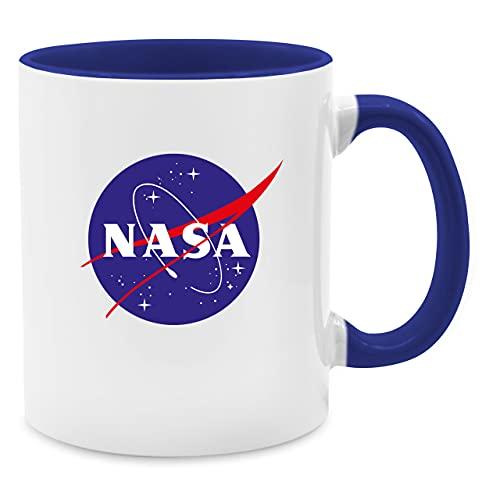 Shirtracer Statement Tasse - NASA Meatball Logo - Unisize - Dunkelblau - Tasse groß 400ml - Q9061 - Tasse für Kaffee oder Tee