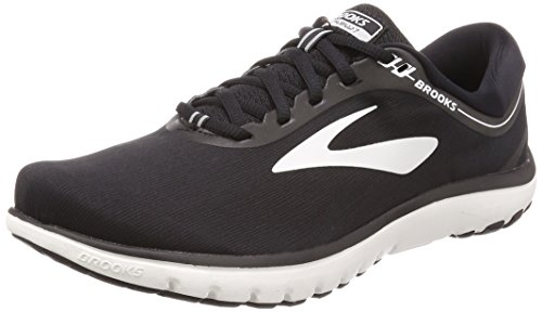 Brooks Men's PureFlow 7, Black/White, 10.5 Medium