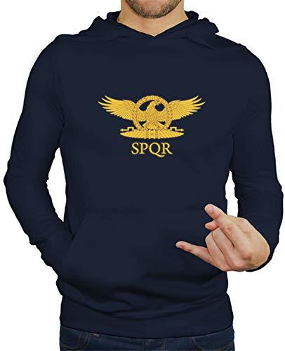 latostadora - Jersey Aguila Romana para Hombre Azul Marino M