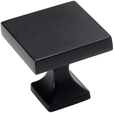 homdiy Black Cabinet Knobs 5 Ranking TOP5 Pack 10 HD6785BK WxW:1-1 Soild inch trend rank