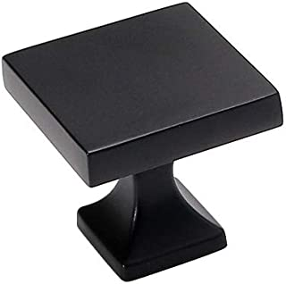 homdiy Black Cabinet Knobs 5 Pack HD6785BK Soild WxW:1-1/2inch Metal Drawer Knobs Black Kitchen Cabinet Hardware Black Dra...