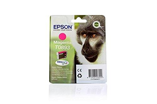 Original Epson C13T08934010 / T0893, für Stylus SX 400 Premium Drucker-Patrone, Magenta, 3,5 ml