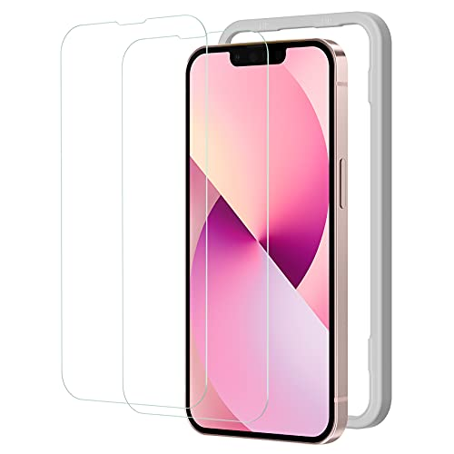 NIMASO ガラスフィルム iPhone13 mini 用 保護 フィルム iphone13ミニ 対応 強化ガラス ガイド枠付き 2枚セット NSP21H289