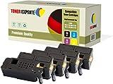 Pack de 4 TONER EXPERTE® Compatibles 593-11130 593-11129 593-11128 593-11131 Cartuchos de Tóner Láser para DELL C1660, C1660W, C1660CN, C1660CNW