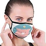 NA t Mouth Cover Maske, Unisex Waschbare Atemschutzmaske Staub/Maske Tier Set Porträt flaches Schwein