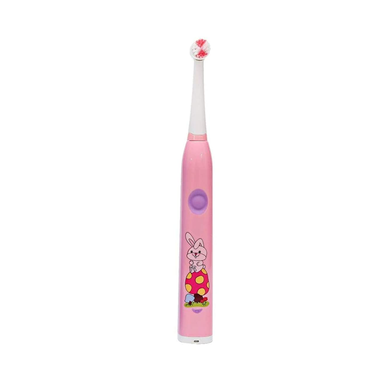 電動歯ブラシ 子供用電動歯ブラシかわいいUSB充電式歯ブラシ (色 : ピンク, サイズ : Free size)