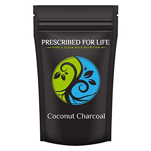 Prescribed for Life Coconut Charcoal - Activated Coconut Shell Charcoal Fine Husk Food Grade Powder (Ultra-Fine) - Organic Approved, 8 oz