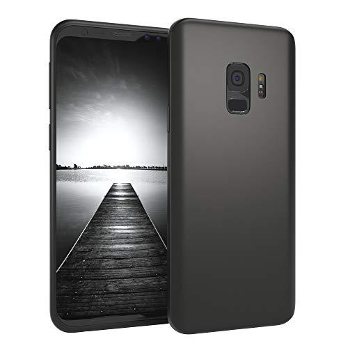EAZY CASE Handyhülle Silikon mit Kameraschutz Samsung Galaxy S9 in schwarz matt, Ultra dünn, Slimcover, Silikonhülle, Hülle, Softcase, Backcover