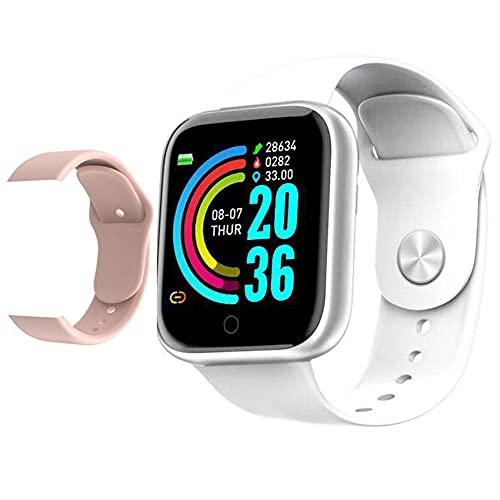 Hainice Inteligente Impermeable de los Relojes Bluetooth Y68 Inteligente Pulsera rastreador de Ejercicios con el Repuesto de la presión Arterial de la Correa de frecuencia cardíaca Prueba Blanca