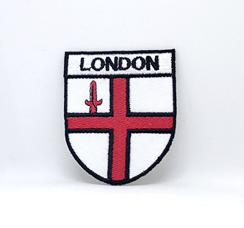 Parche bordado coser planchar escudo bandera Londres