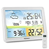 Weather Station Wireless Indoor Outdoor Weather Stations with Atomic Clock ,...