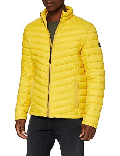 TOM TAILOR Herren Lightweight Steppjacke, Californian Yellow, L