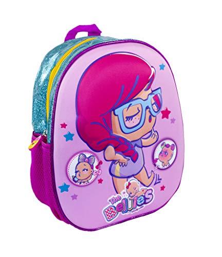Bellies - Mochila Escolar con diseño 3 D, para niños y niñas a Partir de 3 años, Color Rosa (Famosa 700015955)