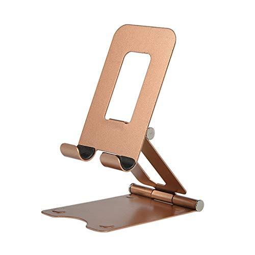 WZHZJ Tableta Perezosa de Metal Tableta Universal Doble Plegable Tableta Tableta Soporte Soporte de Mesa de Escritorio de Aluminio Gold