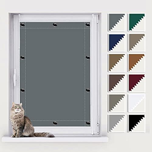 AIYOUVM Dachfenster Rollo Verdunkelung, Fenster Sichtschutz, UV Schutz Blickdicht und Thermo Sonnenschutz, Jalosienen Ohne Bohren für Beliebige Fenster 116x115cm