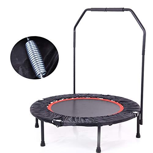 WAJI Sport indoor trampoline fitness vouwen (40 inch) / volwassen mini trampoline, veiligheidsgordel stabilisator met handvat/sport rebound oefening