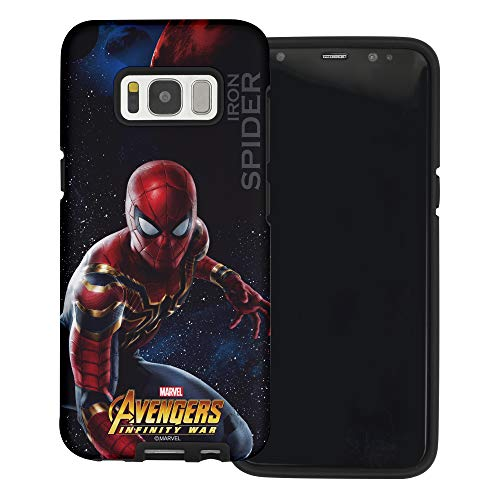 WiLLBee Compatible with Galaxy S8 Plus Case Layered Hybrid [TPU + PC] Bumper Cover - Infinity War Spider Man