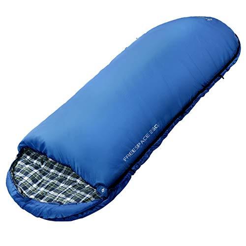 KingCamp 100cm breed katoen extra groot slaapzak comfort voor kamperen wandelen thuis rugzakreizen, (190 + 30) × 100 cm, 2,3 kg