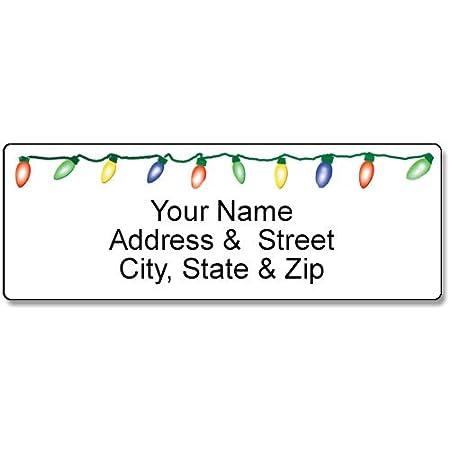 90 Christmas Labels Christmas Tree Address Label Customized Return Address Label