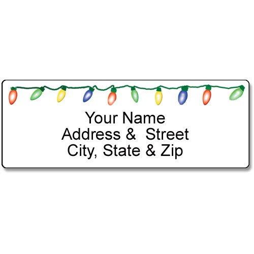 Christmas Address Labels - Holiday Lights Address Label - Christmas Customized Return Address Label - 90 Labels